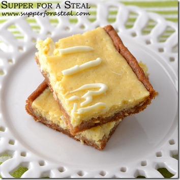 Key Lime Cookie Bars -- Supper for a Steal