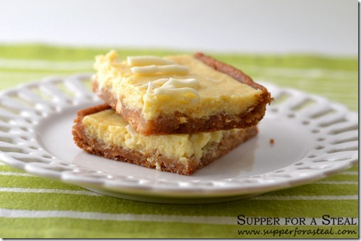 Key Lime Cookie Bars --- Supper for a Steal