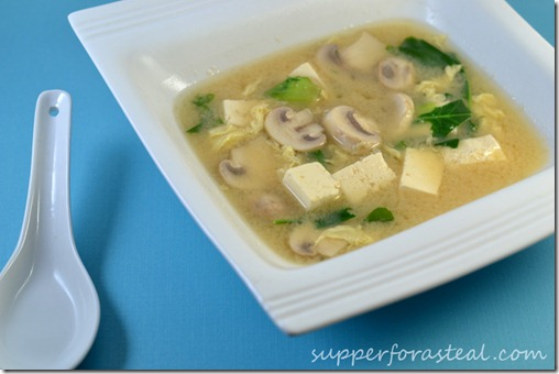 Miso Mushroom Soup - Supper for a Steal