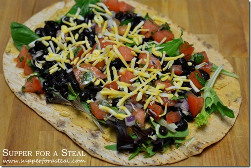 Southwestern Black Bean Wrap - Supper for a Steal