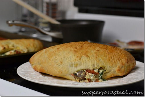 Spinach and Ricotta Calzones -- Supper for a Steal