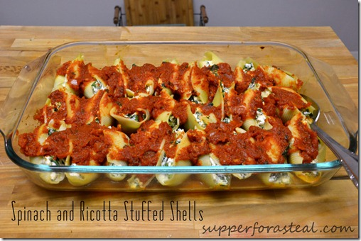Spinach and Ricotta Stuffed Shells -- Supper for a Steal