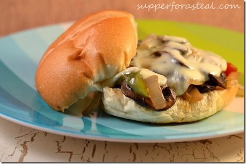 Vegetarian Philly for #WeekdaySupper and Reflecting on a Month Without Meat - Supper for a Steal