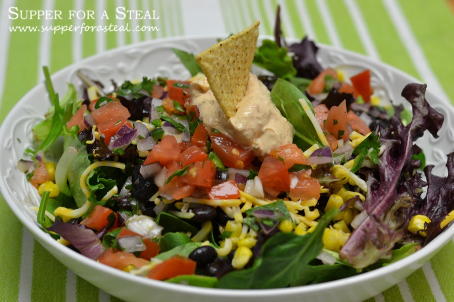 Vegetarian Taco Salad - - Supper for a Steal