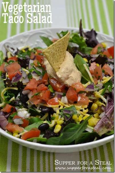 Vegetarian Taco Salad - Supper for a Steal