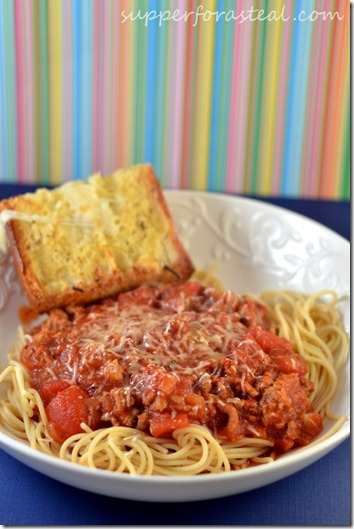 Crockpot Turkey Spaghetti Sauce - Supper for a Steal