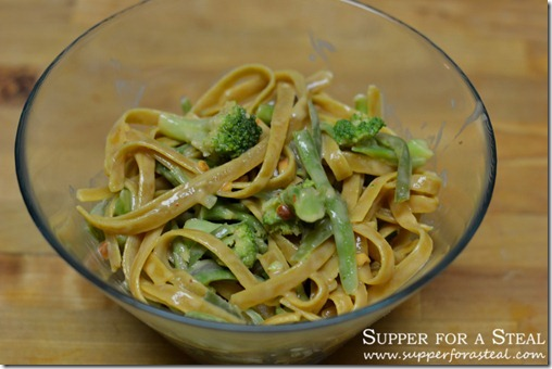 From the Pantry Peanut Noodles for Budget #SundaySupper - Supper for a Steal