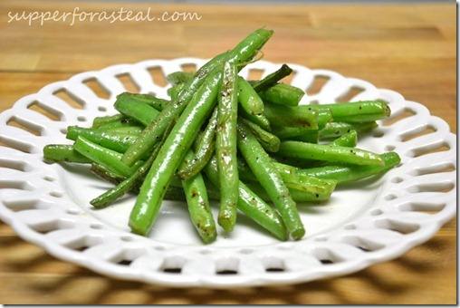 Easy Side: Garlic Green Beans - Supper for a Steal