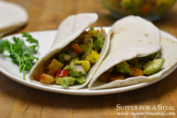 Jerk Shrimp Tacos with Mango Salsa for #WeekdaySupper