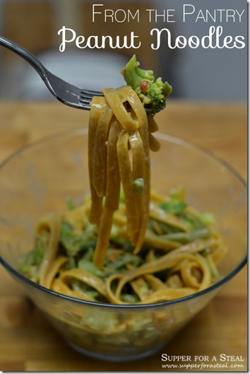 Peanut Noodles - Supper for a Steal