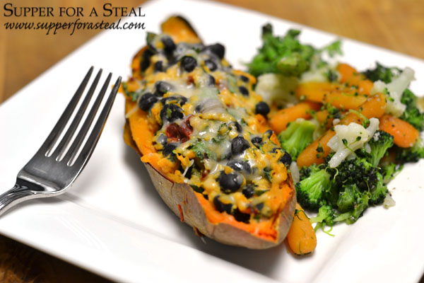 Southwestern Twice Baked Sweet Potato