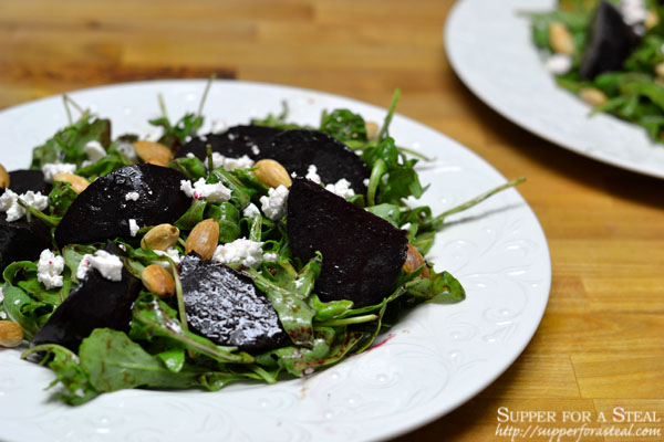 Balsamic Roasted Beet and Arugula Salad - Supper for a Steal