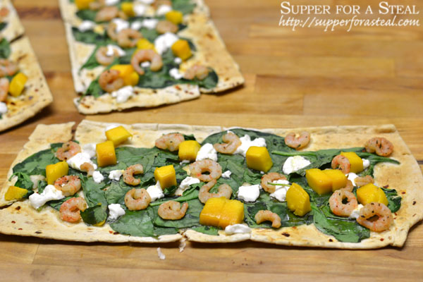 Jerk Shrimp and Mango Flatbread