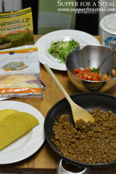 Lentil Tacos-Supper for a Steal