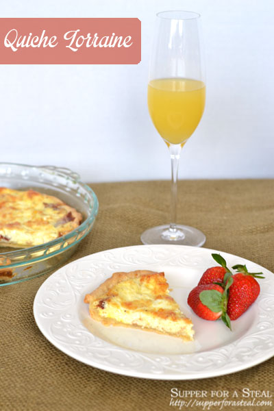 Quiche Lorraine -- Supper for a Steal