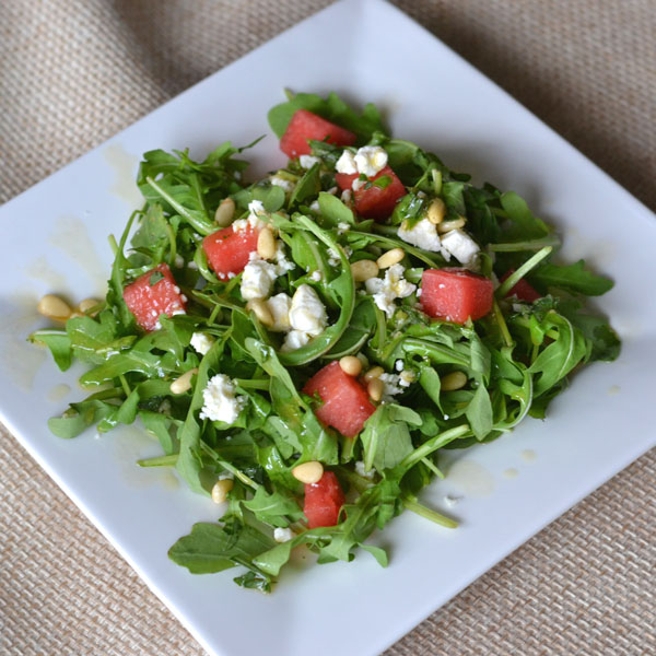 Watermelon and Feta Salad with Herb Vinaigrette - Supper for a Steal