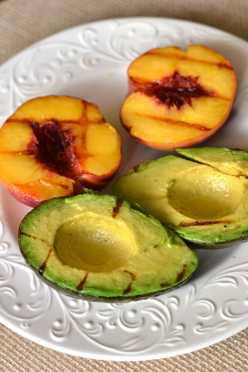 Grilled Peach and Avocado
